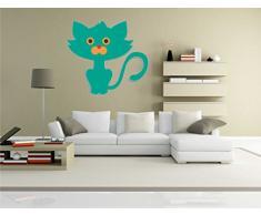 INDIGOS KAR-Wall-clm035-58 Wandtattoo fürs Kinderzimmer clm035 - Lustige kleine Monster - Lustige Katzen - Wandaufkleber 58 x 53 cm