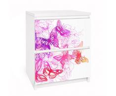 Apalis 91165 Möbelfolie für Ikea Malm Kommode - Selbstklebe Schmetterlingstraum, größe 2 mal, 20 x 40 cm