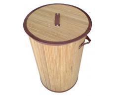 GMMH Original LN42 Bambus Wäschekorb Aufbewahrungsbox Wäschetruhe Wäschebox Wäschesammler Korb