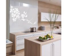 INDIGOS 4052166143998 Wandtattoo w657 sehr schöne Blume Wandaufkleber 120 x 87 cm, weiß