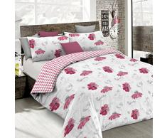 emotion cp-em Poppy Bettbezug, 100% Baumwolle, Mehrfarbig, Doppelbett, 47 x 35 x 4 cm