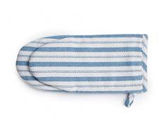 LEXINGTON 2011810130 Ofenhandschuh, 17 x 32, 100% Baumwolle, Weiß, Blau, 17 x 32 cm