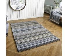 Rugs Direct Teppich, 100% Wolle, grau, 60 cm x 230 cm