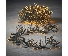 luca lighting Cluster Light Weihnachtsbeleuchtung, PVC, klassisch warm weiß, 420 Zentimeter