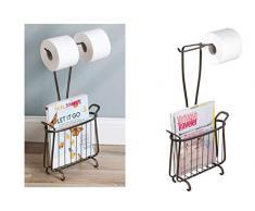 iDesign Axis Toilettenpapierhalter mit Zeitungsständer, bronze