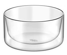 alfi 2420.007.000 Doppelwandglas glasMotion, Borosilikat-Glas Bowl 300 ml - 2er Set Isolierglas, Snackschale