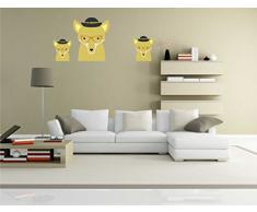 Indigos KAR-Wall-clm034-70 Wandtattoo fürs Kinderzimmer clm034 - Lustige kleine Monster - Niedlichen Hund - Wandaufkleber 70 x 30 cm