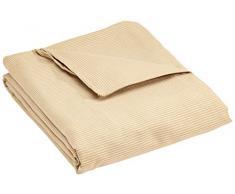 Eysa Sofaüberwurf Plus, 1 Quadrate, Polyester, Baumwolle, Universalbezug, Nicht-elastisch, Braun