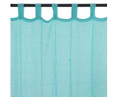 Premium Vorhang mit Schlaufen (110x 250cm) blau/türkis–United United Stil: