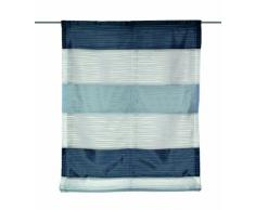 Home fashion 69883-806 Raffrollo Gabi Halborganza-Querstreifen, 140 x 45 cm, blau