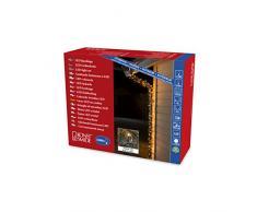 Konstsmide 3648-800 Micro LED Lichterkette, gefrostet / für Außen (IP44) / 1000 bernsteinfarbene Dioden / 24V Außentrafo / schwarzes Kabel