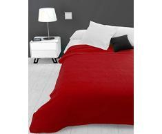 Soleil docre Adele, Tagesdecke, Sofa-Überwurf, Polycotton, Rot, 220 x 240 cm
