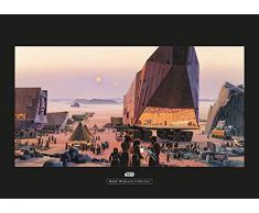 Komar Wandbild Star Wars Classic RMQ Java Market | Kinderzimmer, Jugendzimmer, Dekoration, Kunstdruck | ohne Rahmen | WB151-70x50 | Größe: 70 x 50 cm (Breite x Höhe)