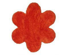 Thedecofactory Teppich 70 x 70 Daisy, Polyamid, Orange, 70 x 70 x 1,5 cm