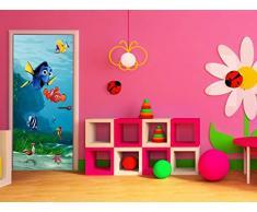 AG Design FTDv 1808 Findet Nemo Disney, Papier Fototapete Kinderzimmer - 90x202 cm - 1 Teil, Papier, multicolor, 0,1 x 90 x 202 cm