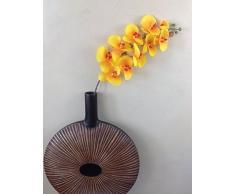 GMMH Orchideenzweig 107 cm XXL orange Seidenblumen Kunstblumen künstliche Orchidee wie echt