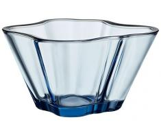 Iittala Aalto Deko Schale, Glas, Aquablau, 7, 5x14