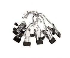 fmeida Haken aufhängbar Klammern für Kleidung Schuhe aus Edelstahl Wäscheklammern starke Haken (6 Stück)