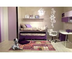 VIVA 19564 ABC Teppich, Synthetikfaser, mehrfarbig, 190 x 133 x 1.7 cm
