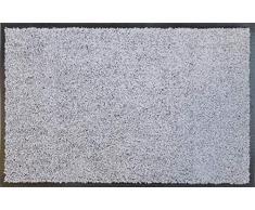 oKu-Tex Fußmatte   Schmutzfangmatte   Eco-Clean  Silber/Grau   Recycling-Gummi   für innen   Eingangsbereich / Haustür / Treppenhaus / Flur   rutschfest   60x90 cm