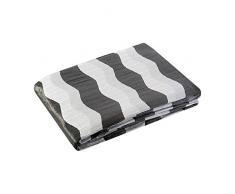 Eurofirany Tagesdecke, Polyester-Baumwolle, White/Grey, 220 x 240 x 1 cm