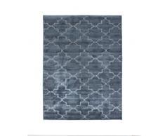 Thedecofactory 133379 Teppich, Polyester, 135 x 180 cm, Vintage-Stil, Relief, 180 x 133 x 1,5 cm, Blau