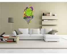 INDIGOS KAR-Wall-clm005-58 Wandtattoo fürs Kinderzimmer clm005 - Lustige kleine Monster - grünen Riesen - Wandaufkleber 58 x 104 cm