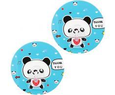 mumbi Handtuchhalter selbstklebend Handtuchhaken (ohne Bohren, Klebehaken) mit Motiv Panda (2-er Set)