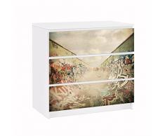 Apalis 91662 Möbelfolie für Ikea Malm Kommode GraffitiSkatepark, größe 3 mal, 20 x 80 cm