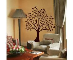 INDIGOS WG30202-70 Wandtattoo w202 Baum Blume Natur Wandaufkleber 120 x 98 cm, schwarz