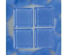 MosaixSoft 10Â x 10Â x 4Â mm 200Â g 215-piece Glas Fliesen, hellblau