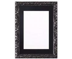 Memory Box Instagram Kissen, quadratisch, mit bruchsicherer Styrolplatte, 26 mm breit und 23 mm tief, Champagner-Rahmen mit schwarzem Passepartout, 43,2 x 43,2 cm, für 38,1 x 38,1 cm
