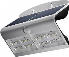 Goobay LED Solar-Wandleuchte mit Bewegungsmelder 6,8W, Glas, Silber, 6,8 Watt