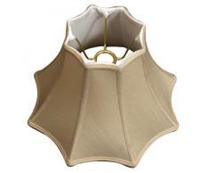 Royal Designs Lampenschirm, 8 Seiten, oben unten mit Glocke, Beige, 6 x 13 x 9 cm