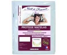 Nuit de France 329398 Schutzbezug für Matratze, Baumwolle, Weiß, weiß, 140 x 200 cm