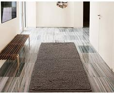 Victoria Classics BON-RUN-2460-EL-TA Barron Teppich, Poly/Baumwolle, Chenille, 61 x 152,4 cm, Taupe