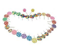 Winterworm Cute Colorful handgefertigt Mini Künstliche Sweet Lollipop canday 30 teilig für Store Party Home Dekoration Handarbeit DIY Handy Schutzhülle (sortiert Farbe)