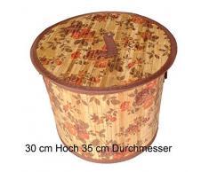 GMMH Original LN413 Bambus Wäschekorb Aufbewahrungsbox Wäschetruhe Wäschebox Wäschesammler Korb