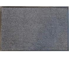 oKu-Tex Fußmatte | Schmutzfangmatte | Eco-Clean| Grau | Recycling-Gummi | für innen | Eingangsbereich / Haustür / Treppenhaus / Flur | rutschfest | 60x120 cm