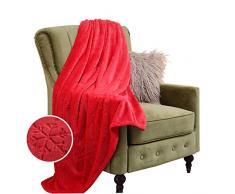 Eternal Moment Fleecedecke, superweiche Flanelldecke, Bettdecke, warme Plüschdecke für Bett, Couch, Reisen Throw rot