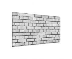 Apalis 108725 Magnettafel Backstein Tapete London Memoboard Design Quer Metall Magnet Pinnwand Motiv Wand Stahl Küche Büro, 37 x 78 cm, weiß