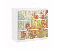 Apalis 91606 Möbelfolie für Ikea Malm Kommode Blüten vergangener Zeit, größe 3 mal, 20 x 80 cm