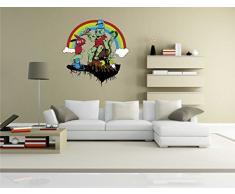 INDIGOS KAR-Wall-clm007-70 Wandtattoo fürs Kinderzimmer clm007 - Lustige kleine Monster - Kings Beach - Wandaufkleber 70 x 71 cm
