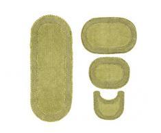 Home Weavers Double Ruffle Collection saugfähige Baumwolle, weicher Teppich, maschinenwaschbar, 43,2 x 61 cm/53,3 x 86,4 cm/50,8 x 50,8 cm/53,3 x 137,2 cm, Salbei