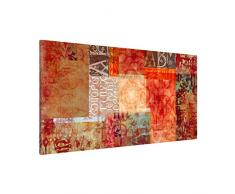 Apalis 108832 Magnettafel Schriftmuster Memoboard Design Quer Metall Magnet Pinnwand Motiv Wand Stahl Küche Büro, 37 x 78 cm