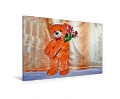 Calvendo Premium Textil-Leinwand 120 cm x 80 cm quer, Alles Gute! | Wandbild, Bild auf Keilrahmen, Fertigbild auf echter Leinwand, Leinwanddruck: Kuscheltier Hobbys Hobbys