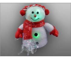 Weihnachtsbeleuchtung Schneemann mit Schal, rot