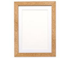 Montiert Breite Konfetti Holz Rahmen Range Fotorahmen | Bilderrahmen | Poster-m-wd-cnfeti-rnge-2-parent, Oak with White Bespoke Mount, 14x11 for 10x8 Pictures