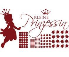 Graz Design 770092_100x57_030 Wandtattoo Set Kinderzimmer Mdchen Sterne Spruch kleine Prinzessin 100x57cm Dunkelrot