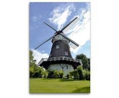 Premium Textil-Leinwand 80 x 120 cm Hoch-Format Achimer Windmühle   Wandbild, HD-Bild auf Keilrahmen, Fertigbild auf hochwertigem Vlies, Leinwanddruck von Günther Klünder
